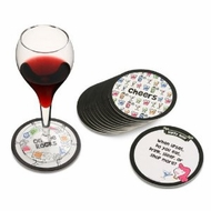 Melissa and Doug Box Girls Happy Hour Conversation Coasters - click to enlarge