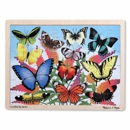 Melissa and Doug Butterfly Garden Wooden Jigsaw Puzzle - 48pc - click to enlarge