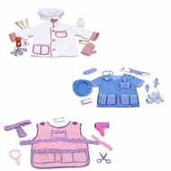 Melissa and Doug Chef Hair Stylist and Veterinarian Role Play Costume Sets - click to enlarge