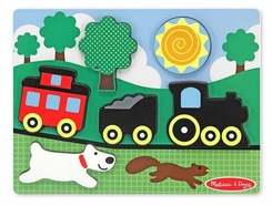 Melissa and Doug Chunky Puzzle Scene : Red Caboose - click to enlarge