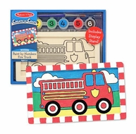 Melissa and Doug Create a Craft Party Favors : Fire Truck Paint By Numbers - click to enlarge