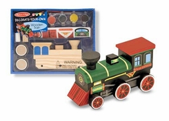 Melissa and Doug Decorate-Your-Own Wooden Train - click to enlarge