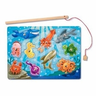 Melissa and Doug Deluxe 3778 10 Piece Magnetic Fishing Game - click to enlarge
