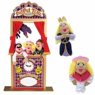 Melissa and Doug Deluxe Puppet Theater Bundle with Cowgirl & Princess Puppets - click to enlarge