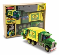 Melissa and Doug Deluxe Wooden Mighty Builders Garbage Truck - click to enlarge