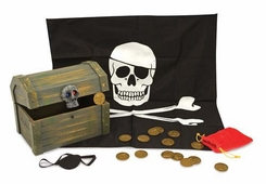 Melissa and Doug Deluxe Wooden Pirate Treasure Chest - click to enlarge