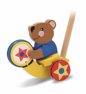 Melissa and Doug Drumming Bear Push Toy - click to enlarge