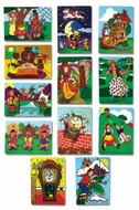 Melissa and Doug Fairy Tales and Nursery Rhymes: Set of 12 Puzzles - click to enlarge