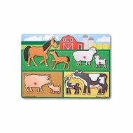 Melissa and Doug Farm Animals Peg Puzzle - click to enlarge