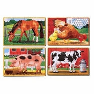 Melissa and Doug Farm Animals Puzzles in a Box - click to enlarge