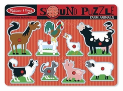 Melissa and Doug Farm Animals Sound Puzzle - click to enlarge
