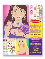 Melissa and Doug Jewelry & Nails Glitter Collection Sticker Pad - click to enlarge