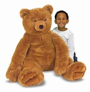 Melissa and Doug Jumbo Brown Teddy Bear : Plush - click to enlarge