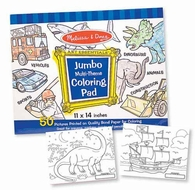 Melissa and Doug Jumbo Coloring Pad : Blue - click to enlarge