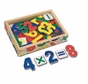 Melissa and Doug Magnetic Wooden Numbers #449