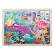 Melissa and Doug Mermaid Fantasea Wooden Jigsaw Puzzle - 48pc - click to enlarge