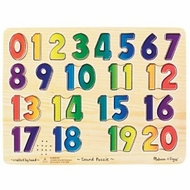 Melissa and Doug Numbers Sound Puzzle - click to enlarge