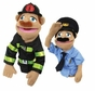 Melissa and Doug Police Officer & FireFighter Puppets