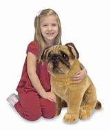Melissa and Doug Pug : Lifelike Plush Stuffed Dog - click to enlarge