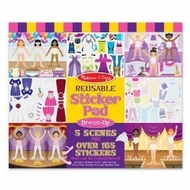 Melissa and Doug Reusable Sticker Pad - Dress Up - click to enlarge