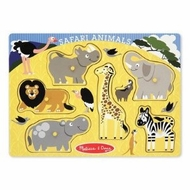 Melissa and Doug Safari Animals Peg Puzzle - click to enlarge