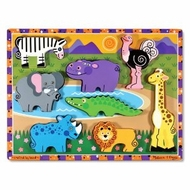 Melissa and Doug Safari Chunky Puzzle - click to enlarge