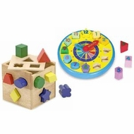 Melissa and Doug Shape Sorting Clock & Shape Sorting Cube - click to enlarge