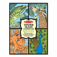 Melissa and Doug Stained Glass Coloring Pad - Animals - click to enlarge