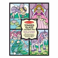 Melissa and Doug Stained Glass Coloring Pad - Fairies - click to enlarge