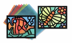 Melissa and Doug Stained Glass Paper Frame Set - click to enlarge