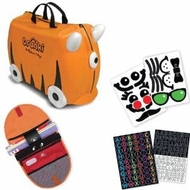 Melissa and Doug Trunki Purple Swizzle Ride On Luggage with Matching Saddlebag and Stickers - click to enlarge
