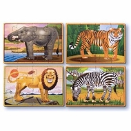 Melissa and Doug Wild Animals Puzzle in a Box - click to enlarge