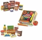 Melissa and Doug Wooden Fridge Food Set, Pantry Products and Playtime Veggies