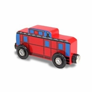 Melissa and Doug Wooden Red Caboose - click to enlarge