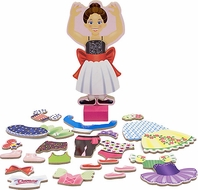 Melissa & Doug 3554 Nina Ballerina Magnetic Dress-Up Playset - click to enlarge