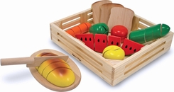 Melissa & Doug 487 Cutting Food Box Play Food Set - click to enlarge