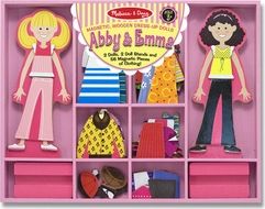 Melissa & Doug 4940 Abby and Emma Magnetic Dress-Up Playset - click to enlarge
