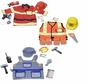 Melissa & Doug Deluxe Role Play Costume Bundle: Fire Chief, Construction Worker and Train Engineer for Boys Ages 3-6
