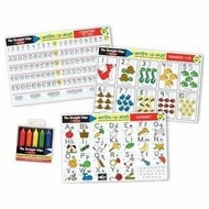 Melissa & Doug Learning Mat Set with Crayons - click to enlarge