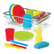 Melissa & Doug Let's Play House! Wash and Dry Dish Set - click to enlarge