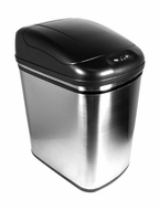 Nine Stars DZT-24-1 6.3 Gallon Stainless Steel Infrared Trashcan - click to enlarge