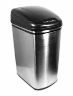 Nine Stars DZT-42-1 11.1 Gallon Stainless Steel Infrared Trashcan - click to enlarge