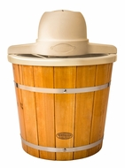 Nostalgia Electrics ICMP400WD Old Fashioned Ice Cream Maker, 4-Quart, Brown - click to enlarge