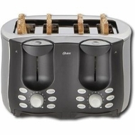 Oster 6318 4 Slice Side by Side Toaster, Brushed Stainless Steel - click to enlarge