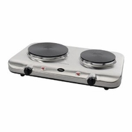 Oster CKSTBUDS00  Stainless Steel Double Burner Hot Plate - click to enlarge