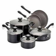 Paula Deen 10537 Traditional Porcelain 10-Piece Set, Black - click to enlarge