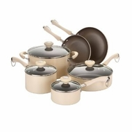Paula Deen 10538 Traditional Porcelain 10-Piece Set, Oatmeal - click to enlarge