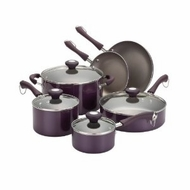 Paula Deen 10539 Traditional Porcelain 10-Piece Set, Purple - click to enlarge