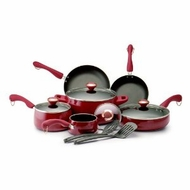 Paula Deen 19241 Red 12pc Cookware Set - click to enlarge