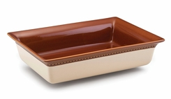 Paula Deen Signature Dinnerware Southern Gathering 9-Inch by 13-Inch Stoneware Baker, Chestnut - click to enlarge